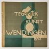 Wendingen, Techniek en kunst, omslagontwerp W.H. Gispen, 1928, nummer 2 - Willem Hendrik (W.H.) Gispen