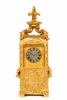 A French gilt brass 'sedan chair' carriage clock, circa 1870