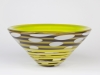 Olaf Stevens for Glass Factory Leerdam, Unique glass bowl with graal technique, 1993 - Olaf Stevens