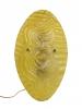 Willem Heesen voor Glasfabriek Leerdam, Goudgele wandlamp met reliëf van dansende dame, 1947 - Willem Heesen H.