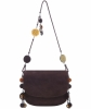 Bottega Veneta Brown Suede Charm Messenger Bag