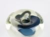A.D. Copier, Unieke glazen vaas met blauw-witte kern, Noordzee serie, uitvoering De Oude Horn, 1979 - Andries Dirk (A.D.) Copier