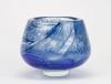 A.D. Copier, Unique vase with decoratie of blue waves, North Sea series, Studio De Oude Horn, 1979 - Andries Dirk (A.D.) Copier