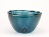 A.D. Copier and Lino Tagliapietra, Blue bowl with filigree, 1985 - Andries Dirk (A.D.) Copier