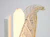 Barovier & Toso, Glazen wandlamp in de vorm van een palmblad, Murano, jaren '40 - Barovier & Toso Barovier & Toso