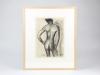 Else Berg, Mannelijk naakt, houtskool op papier, ca. jaren '20 - Else Berg