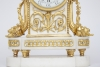 A fine French Louis XVI ormolu mounted white marble mantel clock, Gille L'ainé, circa 1770