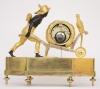 A rare French Empire ormolu and bronze 'au bon sauvage' mantel clock Lesieur à Paris, circa 1800