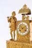 Een goede Franse Charles X vuurverguld bronzen figurale pendule, circa 1825.