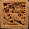 Carved pottery tiles