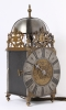 A French iron and brass alarm lantern clock, by Rouelle, circa 1725