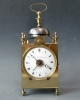 French Capucine clock with date indication, quarter striking on two bells, c. 1820.