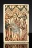 Linkerdeel van een Frans Gotiek Diptiek voorstellende de Verering van Maria