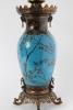 Een paar fraaie Franse cloisonné olielampen in Oriëntaalse stijl, Barbedienne circa 1880