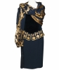 1984 Moschino Couture Dress with Scarf - Moschino