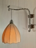 Piet Kramer, Amsterdamse School wandlamp met smeedijzer, ca. 1925 - Piet Kramer