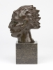 Adrianus Remiëns, Bronze head of a faun on a marble pedestal, 1920s - Adrianus Remiëns