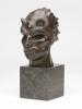 Adrianus Remiëns, Bronzen kop van een faun op marmeren sokkel, jaren 20 - Adrianus Remiëns