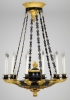 French Empire Discus Chandelier