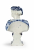 Delftware tulip vase in the shape of a moor