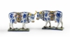 A Pair of Polychrome Delftware Cows