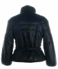 Prada Black Leather Puffer Jacket - Prada