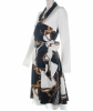 Louis Vuitton Scarf Print Flare Dress