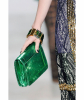 SS 2010 Dries Van Noten Runway Green Metallic Python Clutch - Dries van Noten