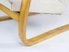 Alvar Aalto, Damesmodel loungefauteuil met berkenhouten leuningen, vroege editie, model 401/36, ontwerp 1933, uitvoering Artek Company - Alvar Aalto