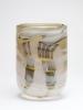 Willem Heesen, Glazen cilindervormige vaas, vroeg unicum, 1979 - Willem Heesen