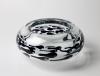 Ciel van Dooren, Unique glass bowl with swimming tadpoles, Studio De Oude Horn, 1992 - Ciel van Dooren