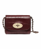 Mulberry Oxblood 'Mini Lily' Deep Embossed Croc Print - Mulberry