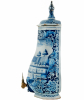 Wall-Fountain in Bleu and White Dutch Delft