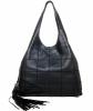 Chanel Square Stitch Tassel Large Hobo Bag