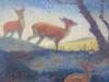 Jacoba 'Jemmy' van Hoboken, 'Herten aan de bosrand', olieverf op board, ca. 1920 - Jemmy van Hoboken