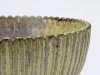 Arne Bang, Grijsgroen geglazuurde kom met ribbels, steengoed, jaren '30 - Arne Bang