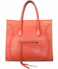 Céline Medium Luggage Phantom Bag in Orange Bullhide Calfskin