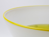 Floris Meydam, Unique glass bowl with yellow and white decoration, executed by Neil Wilkin, 1990 - Floris Meydam