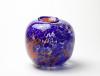 Willem Heesen, Unieke vaas met rood-blauwe decoratie, Studio De Oude Horn, 1980 - Willem Heesen