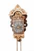 A Dutch Frisian miniature polychrome 'schippertje' alarm wall clock, circa 1800