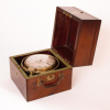 A small English mahogany two day chronometer, Barrauds & Lund London, circa 1840
