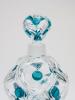 René Lalique, 'Rialto' parfumfles met blauwe appliqués, ca. 1960 - René Lalique