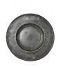 French pewter plate with mark