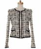 Chanel Black & White Fantasty Tweed Jacket 03C