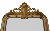 French mirror with crown, partly giltwood, about 1875.
