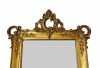 Nederlandse spiegel met vergulde lijst, ca 1850.