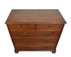 mahogany chest of drawers, about 1800.
