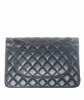 Chanel Grey Quilted Lambskin Leather Classic Large Double Flap Bag - Chanel