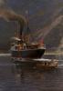 Dampfer im Naerofjord - Themistokles von Eckenbrecher