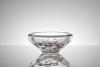 Floris Meydam, Glass bowl with purple textile parts, Leerdam Unica, executed by Leendert van der Linden, 1968 - Floris Meydam